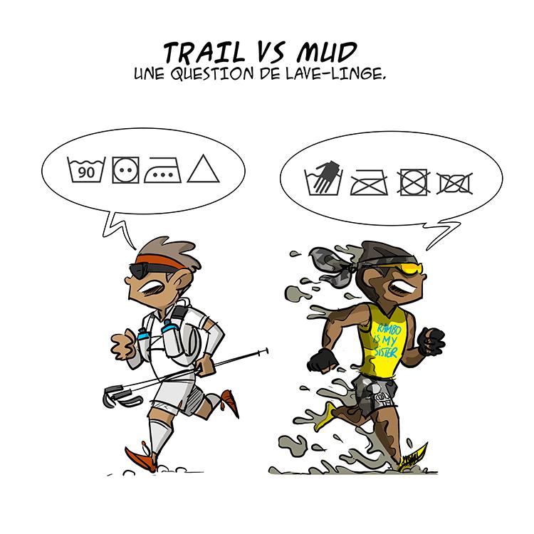 des bosses et des bulles - Trail vs Mud