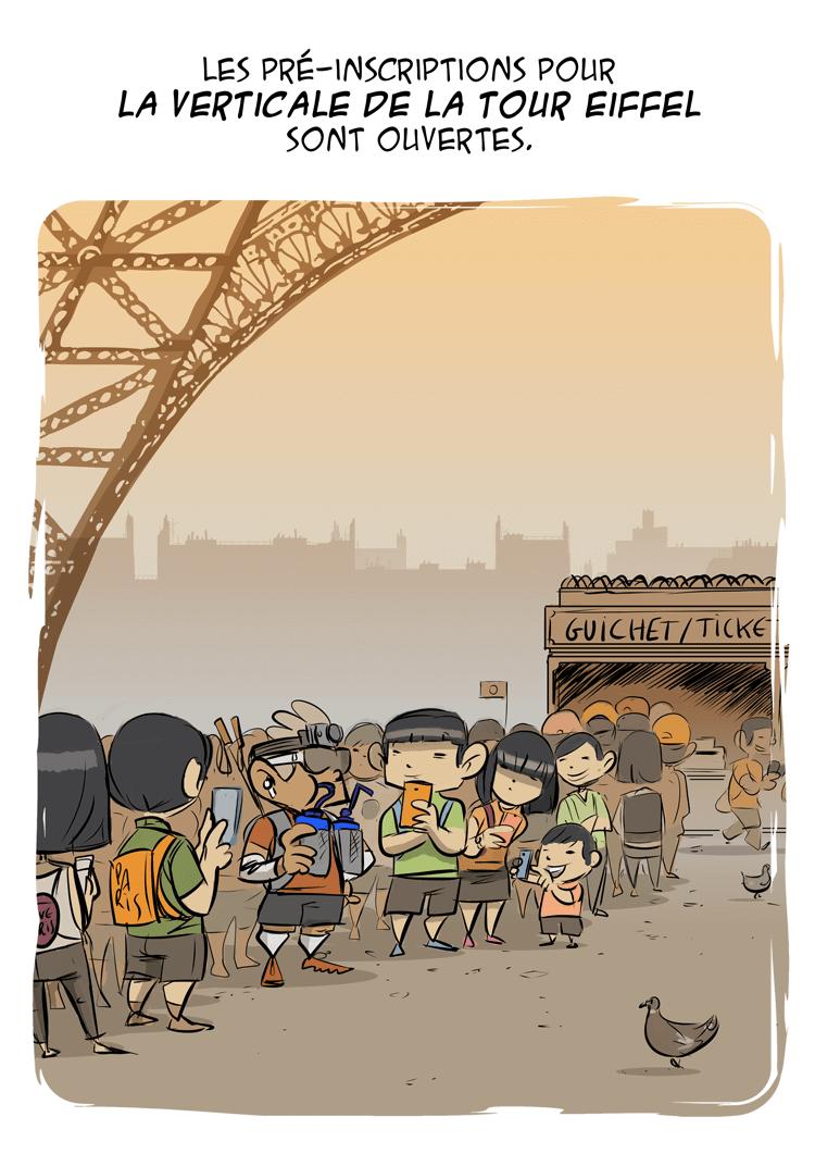 des bosses et des bulles - Verticale de la Tour Eiffel 2016