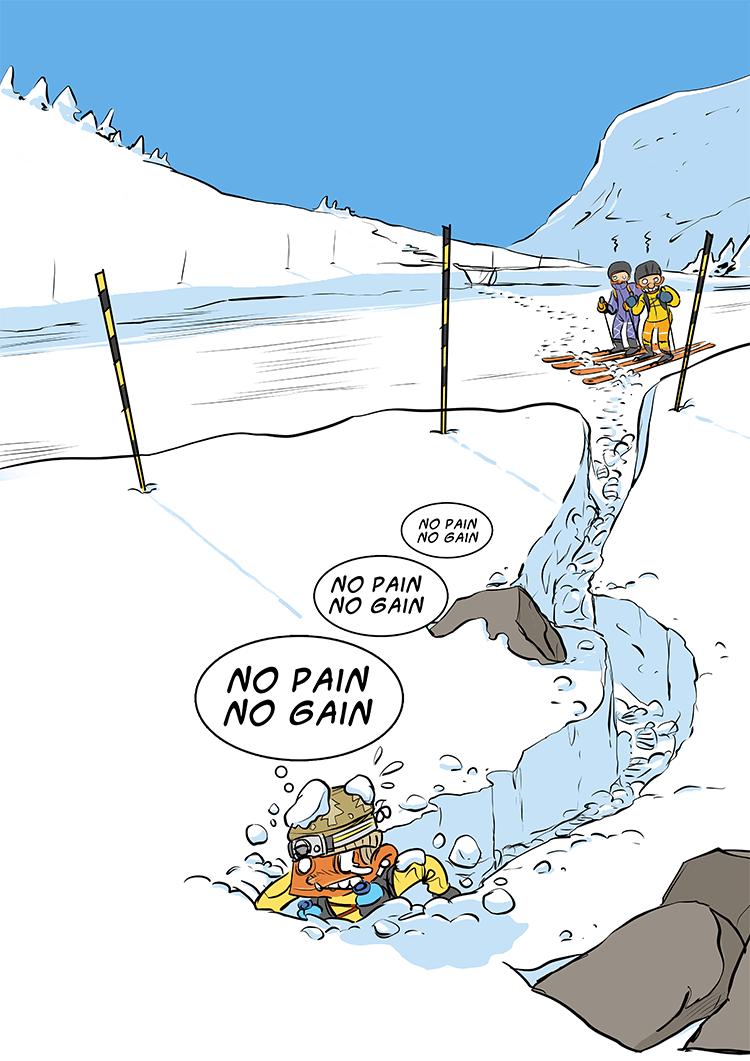 des bosses et des bulles - La neige est là !