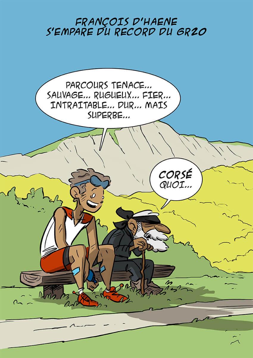 des bosses et des bulles - François d'Haene s'empare du record du GR20