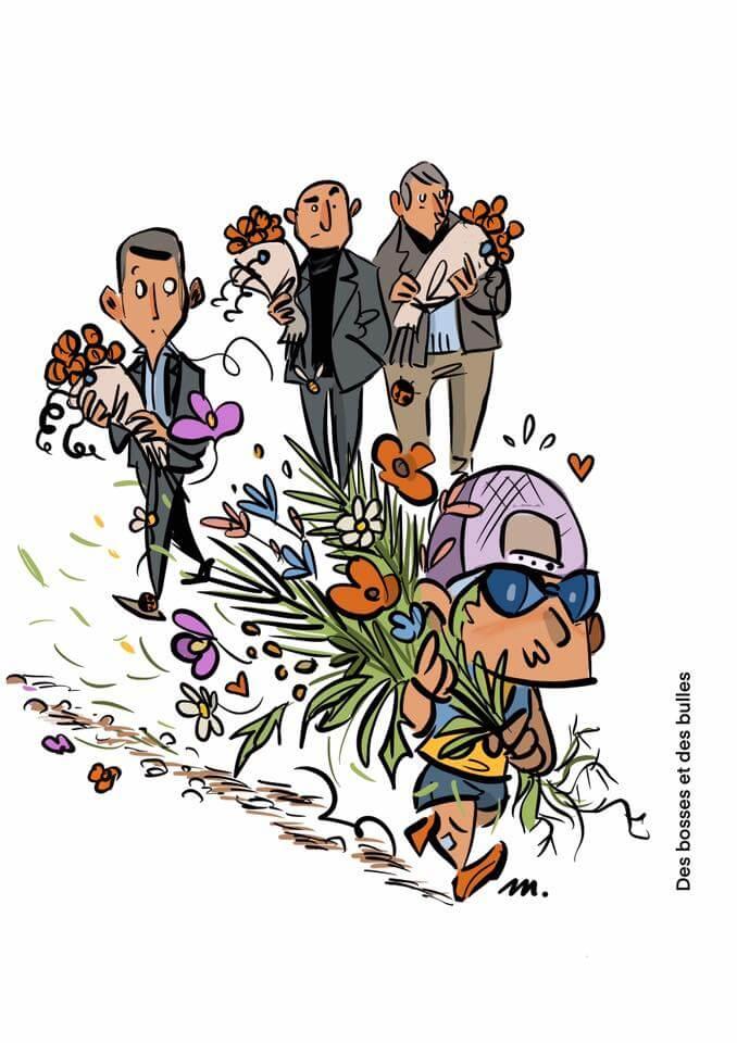 des bosses et des bulles - Dites le avec des fleurs sauvages