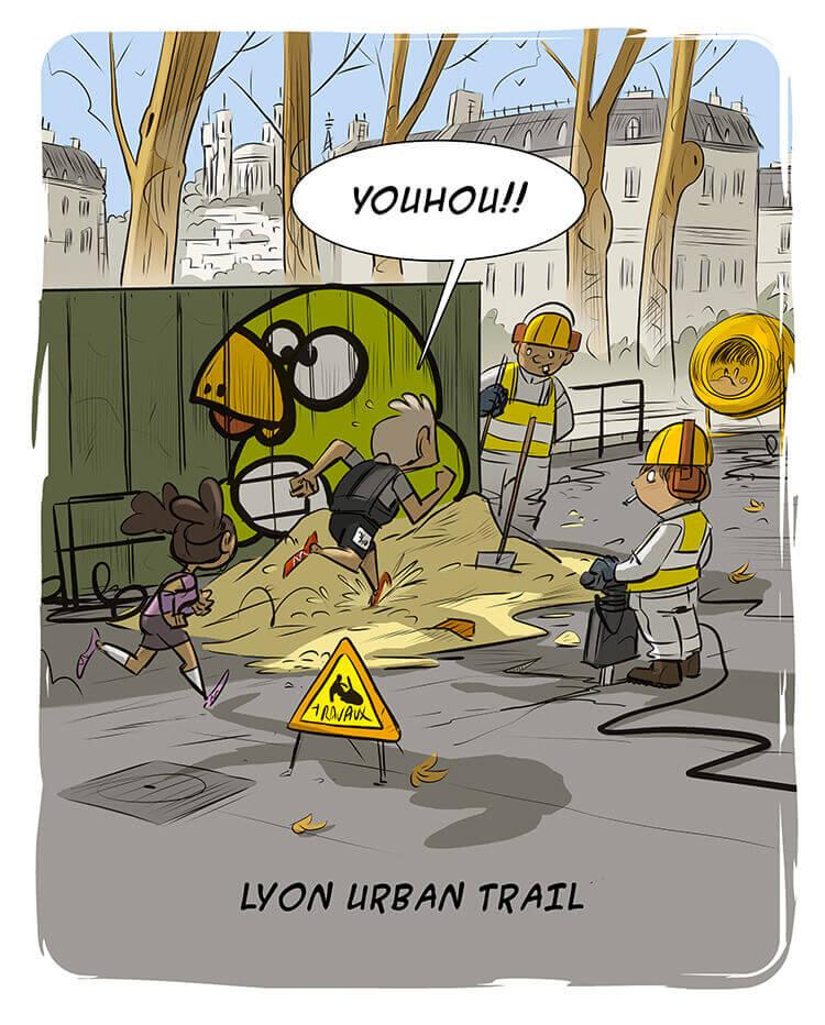 des bosses et des bulles - Lyon Urban Trail 2014 ! Top !