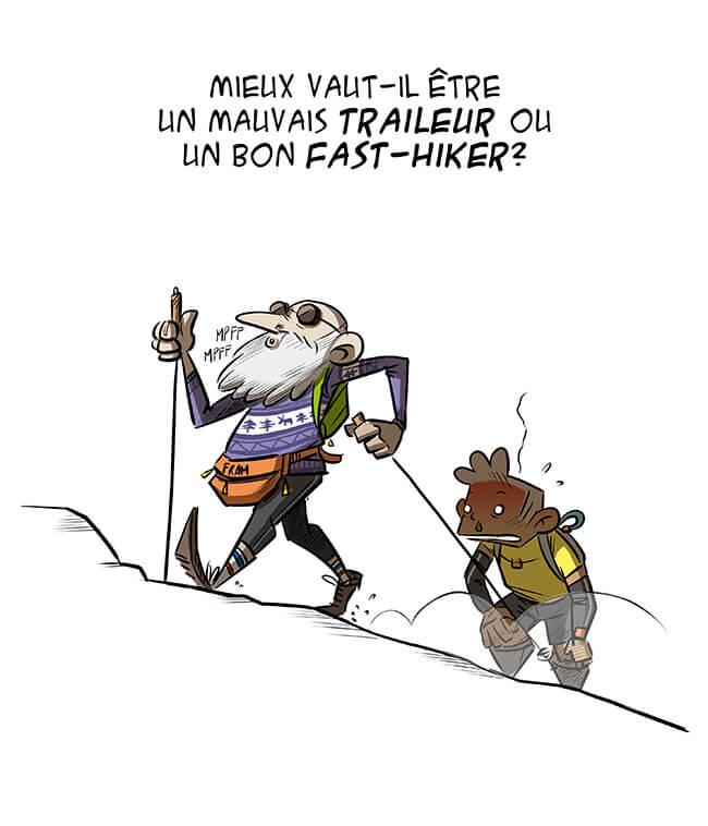 des bosses et des bulles - Fast hiking ou trail running