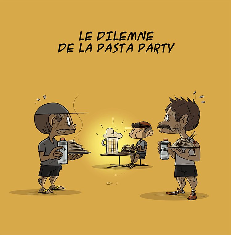 des bosses et des bulles - Le dilemne de la pasta party